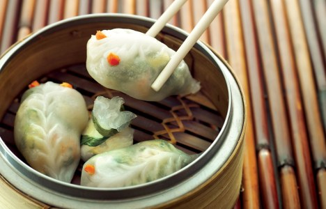 Shrimp & Spinach Dumpling by Chef Ming Chen and Chef Geoffrey Young at Kum Koon Garden