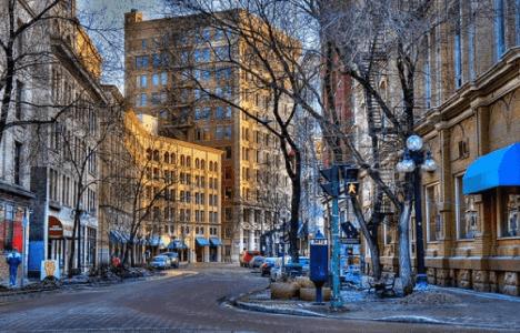 Downtown Winnipeg picture of St Albert Street in the Exchange