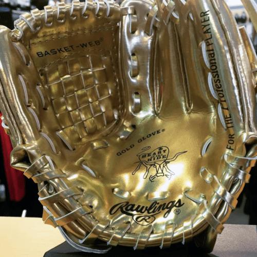 Gold Mitt Trophy from Home Run Sports, Winnipeg