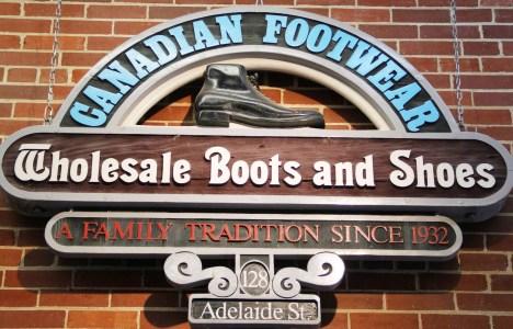 Canadian Footwear Sign Winnipeg