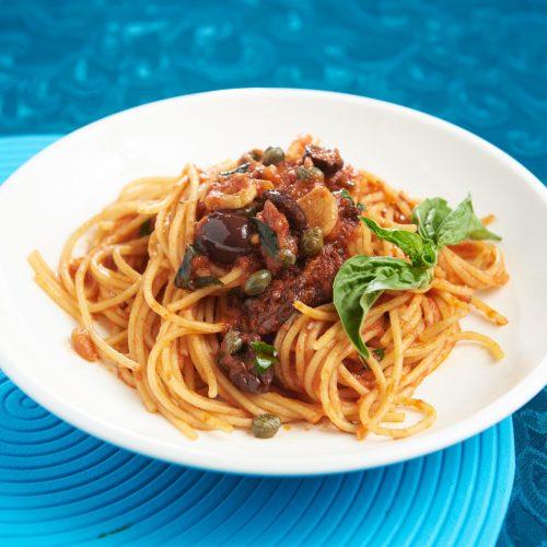 spaghetti puttanesca Tre Visi