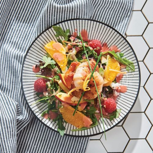 Honey Raspberry Field Green Salad by Maxime's Restaurant