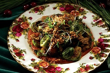 Brussels sprouts with Romesco sauce