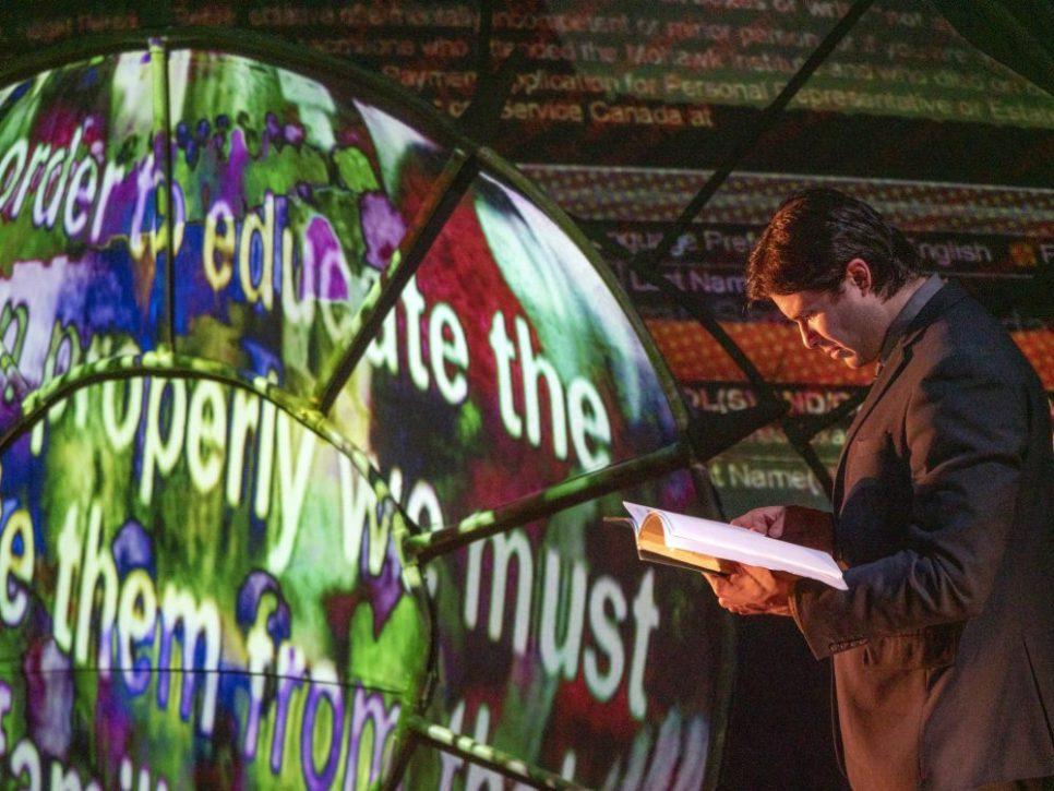 MTC The Bridge: Festival of Ideas. Meegwun Fairbrother in Isitwendam. Photo by Chris Randle.