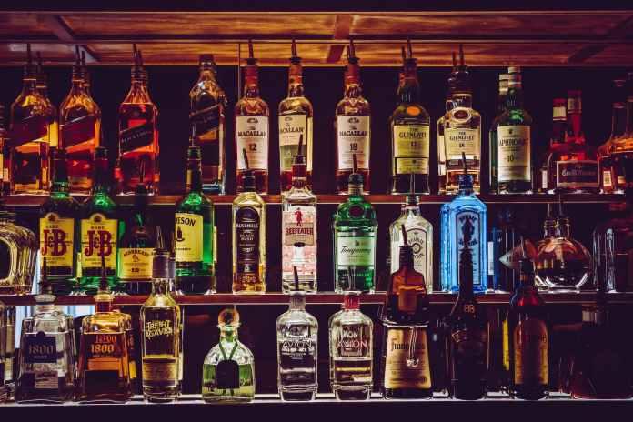 assorted wine bottles