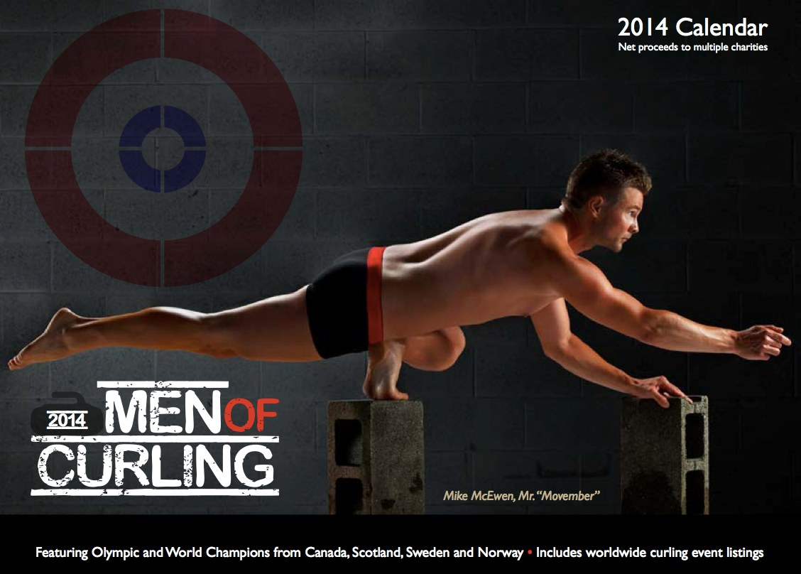 Men of Curling calendar on sale now-Paul Flemming representing Atlantic Canada in the lineup