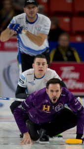 Teams Gushue (with PEI native Brett Gallant) and Carruthers in Canada Cup men's final tonight (Curling Canada)