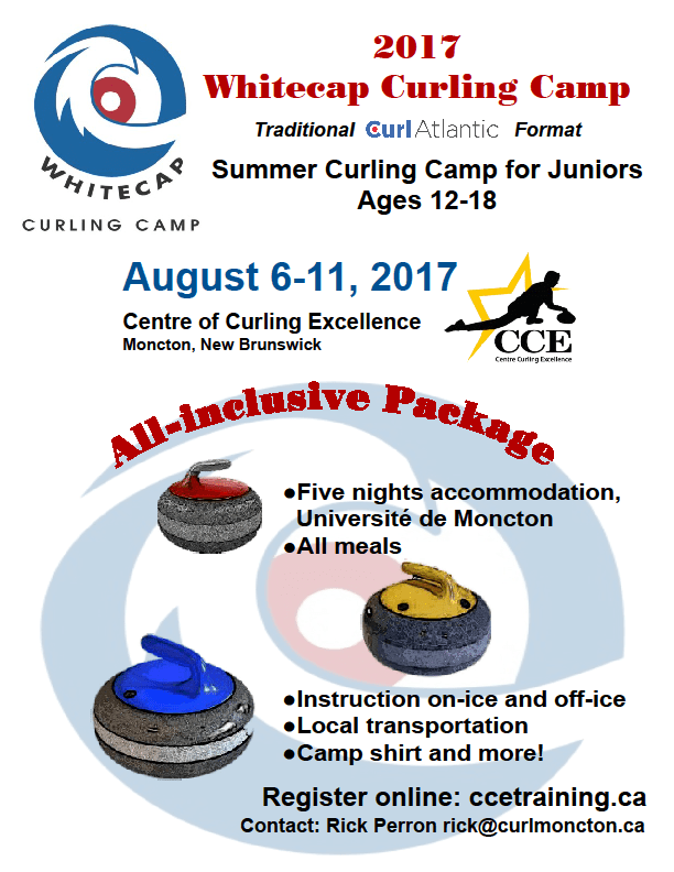Whitecap Junior Curling Camp @ Centre of Curling Excellence at Curl Moncton