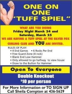 "Silver Fox hosting annual 1 on 1 ""Tuff Spiel"""