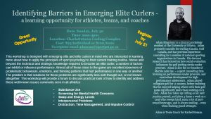Identifying Barriers in Emerging Elite Curlers - Workshop with Adam Kingsbury