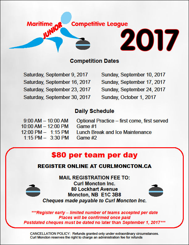 Maritime Junior Competitive League @ Curl Moncton | Moncton | New Brunswick | Canada