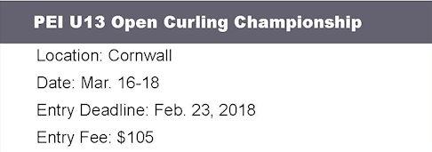 PEI Under 13 Ch'ship @ Cornwall Curling Club