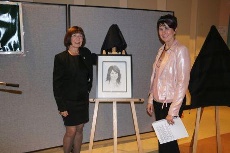 Kathy O'Rourke with Arleen Harris