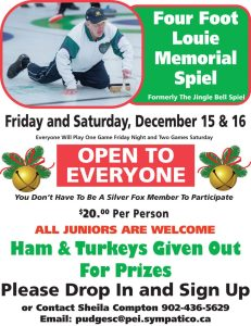 Four Foot Louie Memorial (formerly the Jingle Bell) Spiel @ Silver Fox Curling and Yacht Club