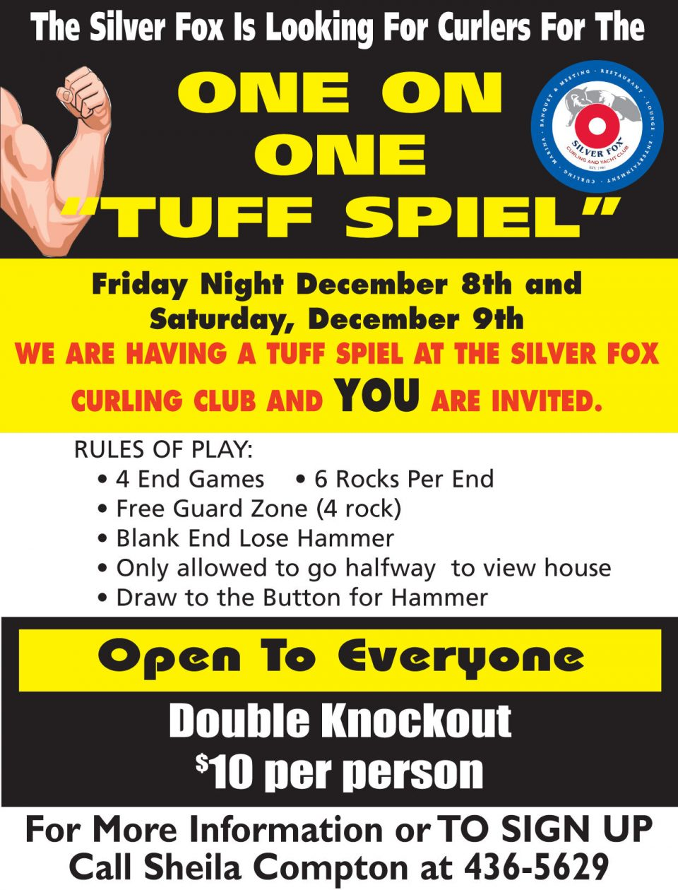 One on One Tuff Spiel (Cancelled) @ Silver Fox Curling and Yacht Club | Summerside | Prince Edward Island | Canada