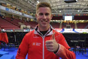 PEI's Robbie Doherty filling in as alternate with Balsdon rink at pre-trials (Journal Pioneer)