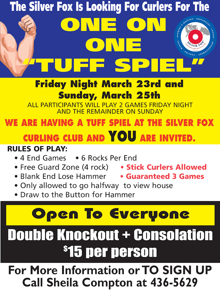 "One on One ""Tuff Spiel"" Day Two @ Silver Fox Curling and Yacht Community Complex"