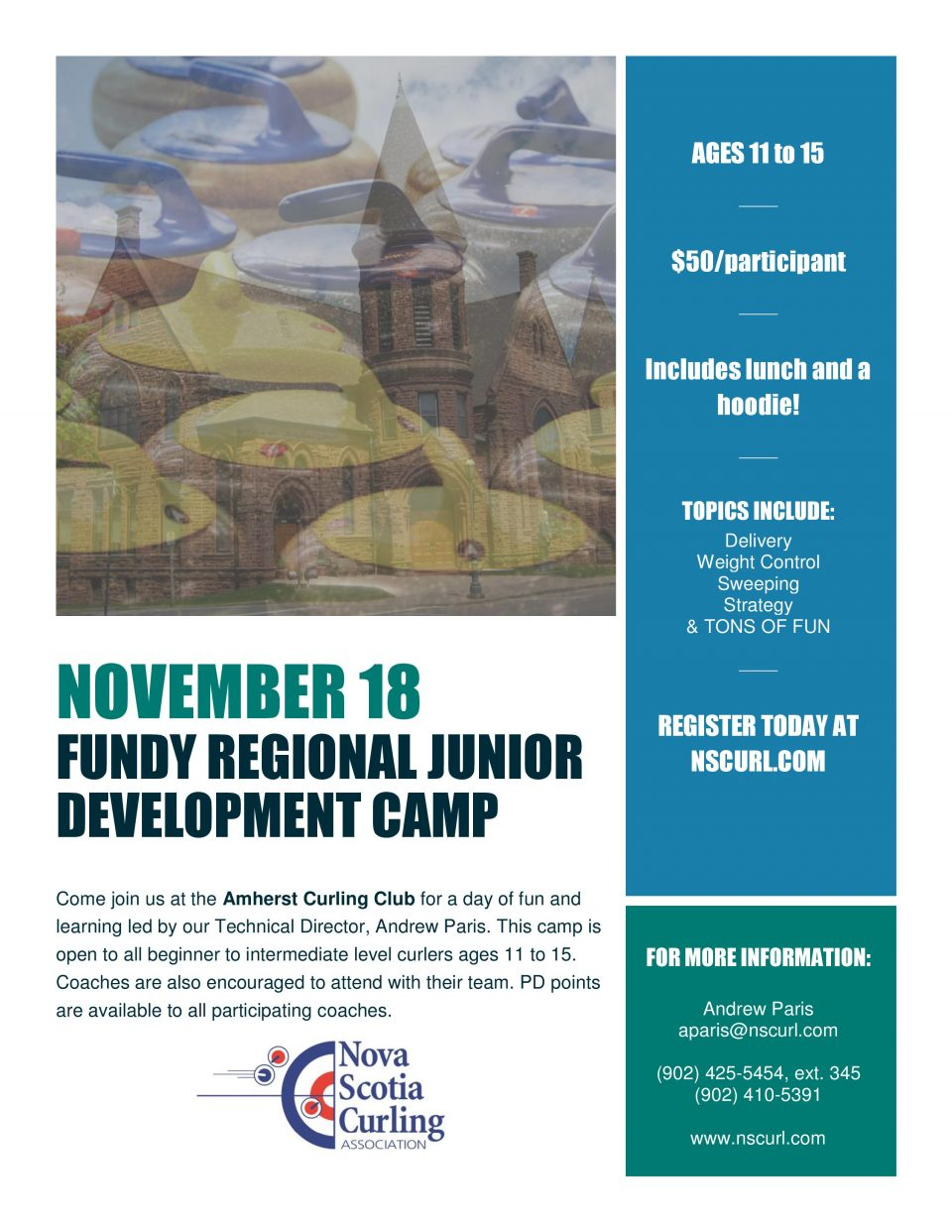Junior Development Camp in Amherst @ Amherst Curling Club | Amherst | Nova Scotia | Canada