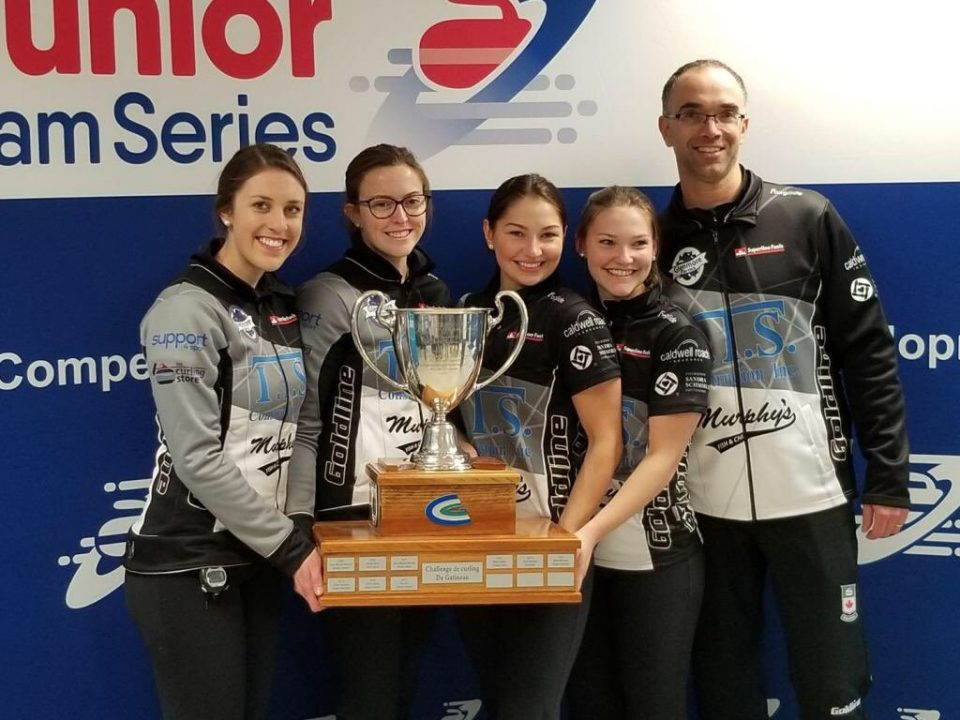 Kaitlyn Jones rink, with PEI's Lauren Lenentine, wins Crystal Slam Junior Event in Quebec