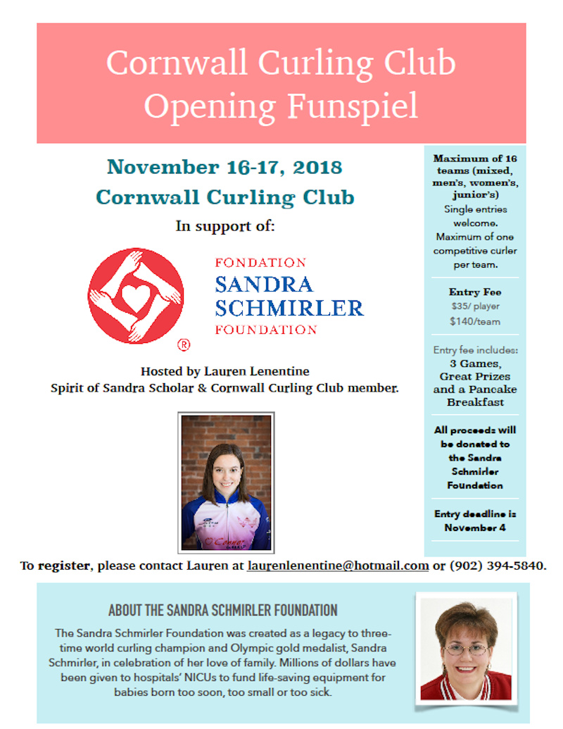 Funspiel with proceeds to Schmirler Foundation @ Cornwall Curling Club | Saint Catherines | Prince Edward Island | Canada