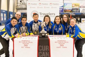 Alberta Women, BC Men win Travelers gold, PEI's Nancy MacFadyen wins Sportsmanship award (Curling Canada)