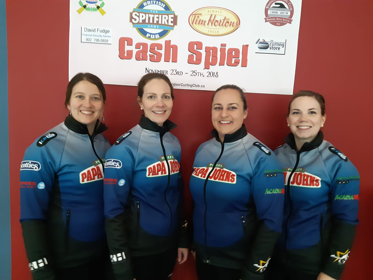 4080e1bb4 ... to clinch a 9-2 win against PEI's Suzanne Birt foursome in this  afternoon's final of the 15 team, $13,000 purse Tim Hortons Spitfire Arms  Cash Spiel at ...