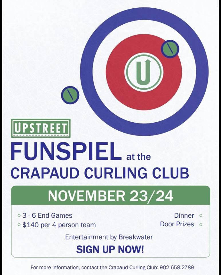 Upstreet Funspiel @ Crapaud Community Curling Club