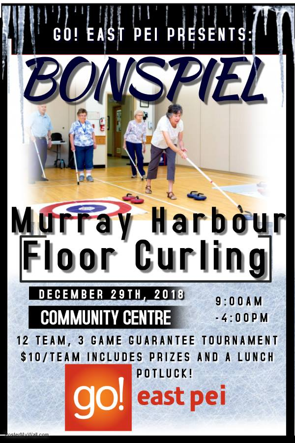 Indoor Floor Curl Bonspiel in Murray Harbour