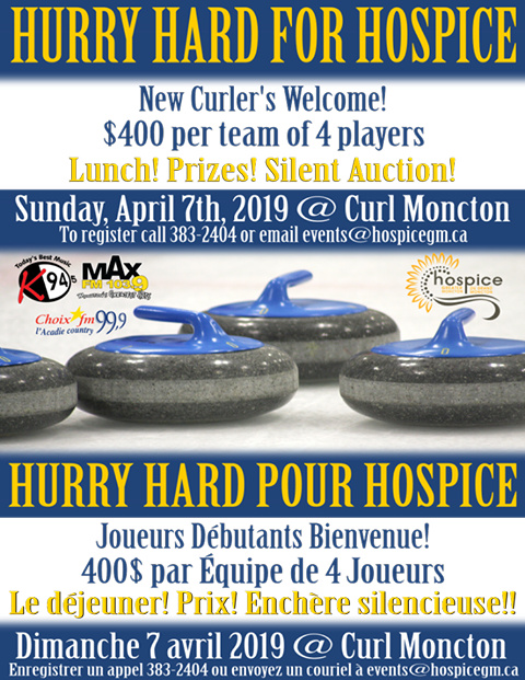 Hurry Hard for Hospice @ Curl Moncton