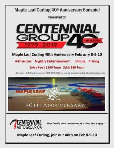 40th Anniversary Bonspiel @ Maple Leaf Curling Club | O'Leary | Prince Edward Island | Canada