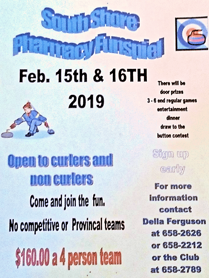 South Shore Pharmacy Funspiel @ Crapaud Community Curling Club