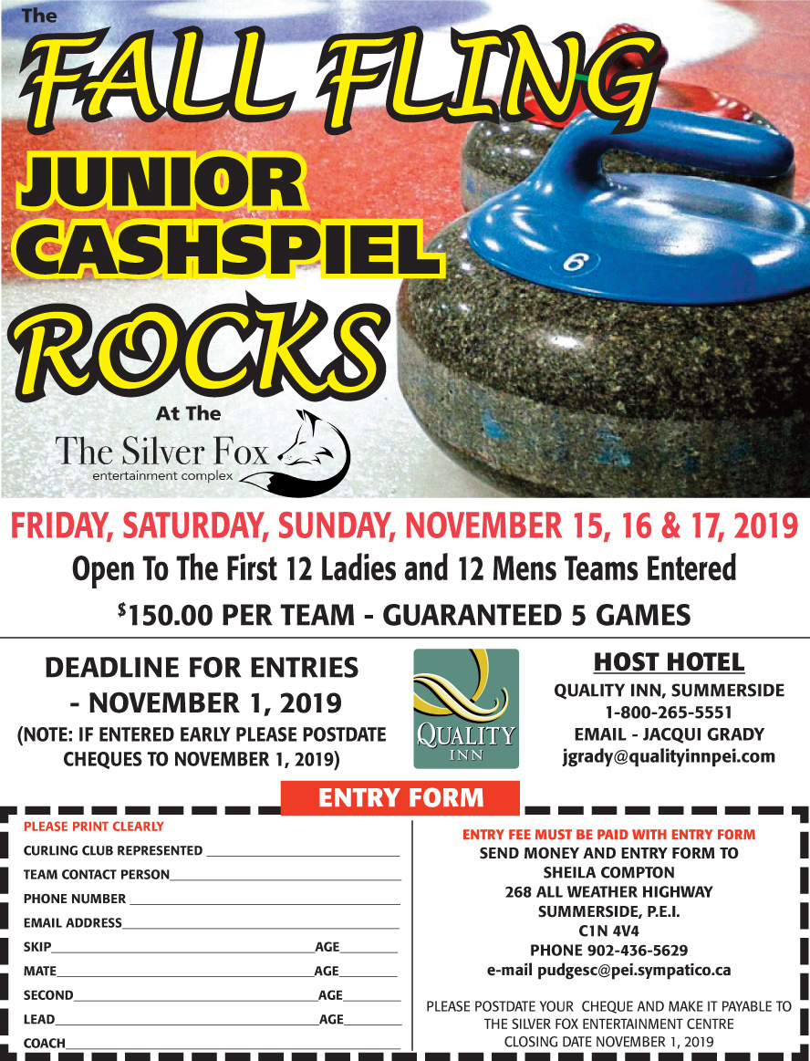 Annual Fall Fling Junior Cashspiel @ Silver Fox Curling and Yacht Community Complex