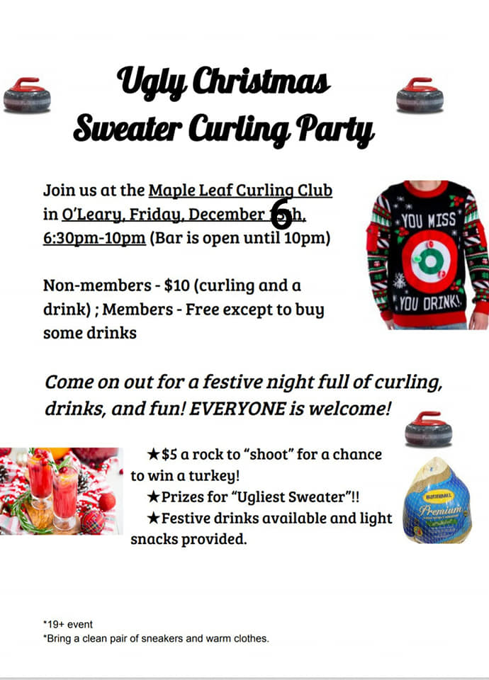 Ugly Christmas Sweater Curling Party @ Maple Leaf Curling Club