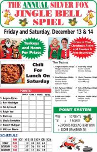Jingle Bell Spiel @ Silver Fox Curling and Yacht Entertainment Complex