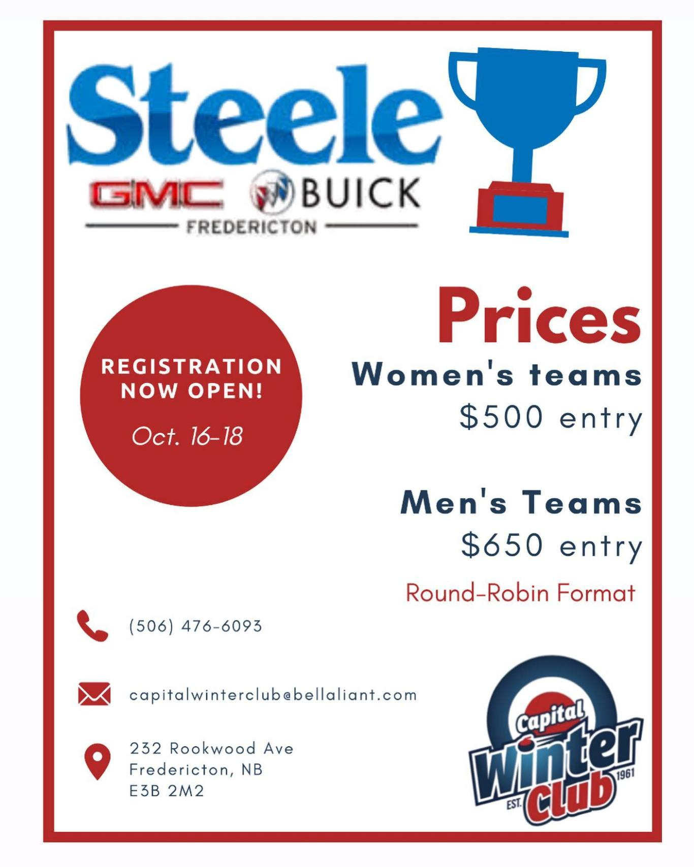 Steele Cup Competitive Adult Spiel @ Capital Winter Club