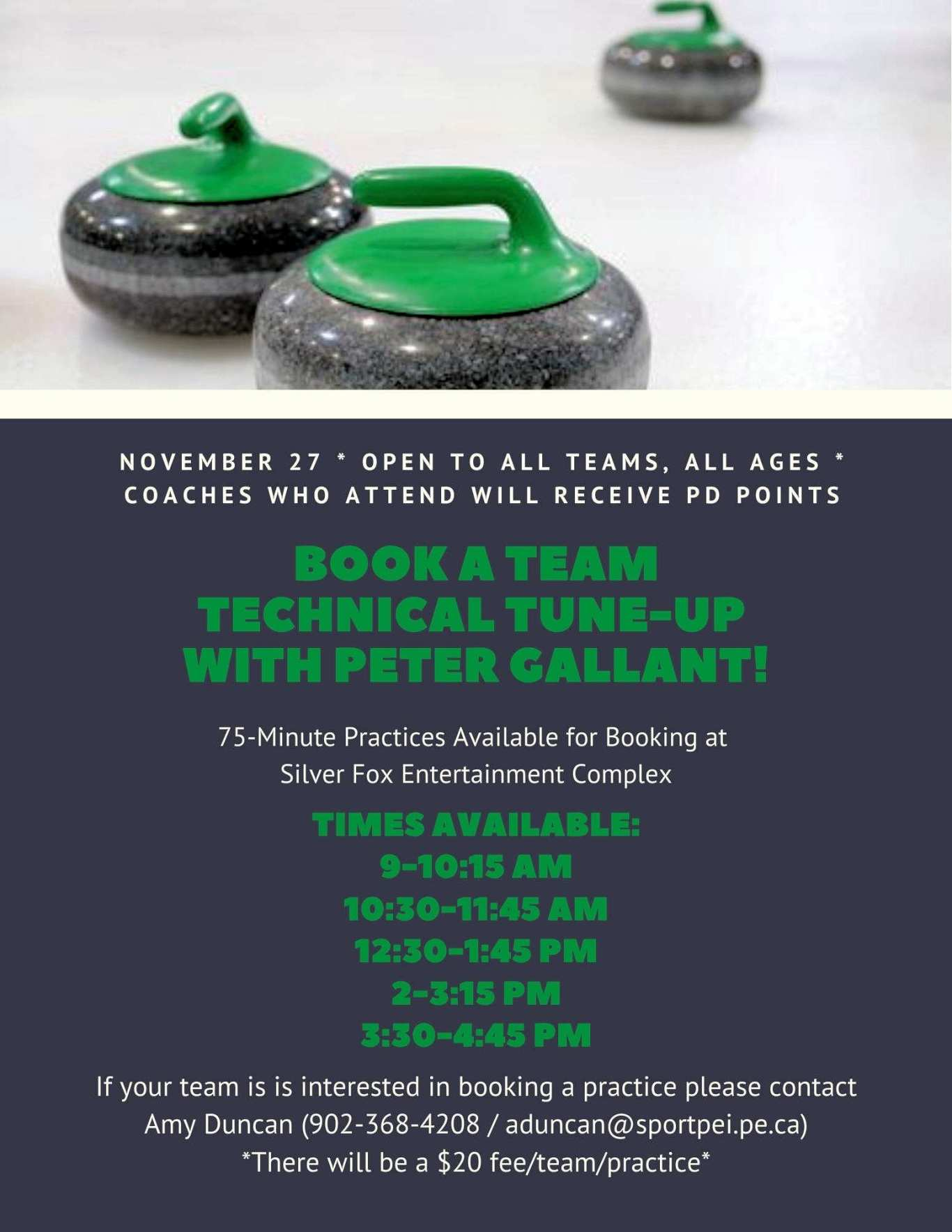 Book a Team Technical Tuneup with Peter Gallant @ Silver Fox Curling and Yacht Entertainment Complex