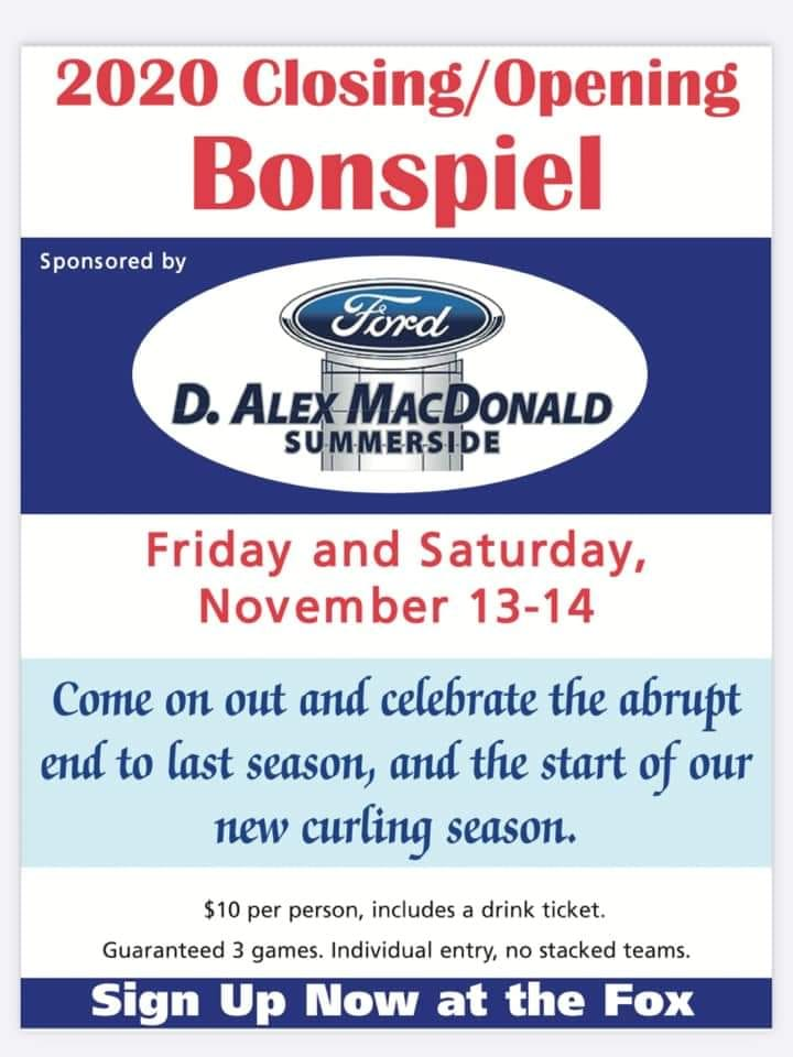 Silver Fox Single-Entry Opening Bonspiel Fri./Sat. open to non-members, too @ Silver Fox Curling and Yacht Club