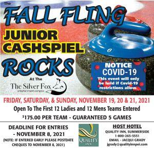 Fall Fling Junior Cashspiel (revised dates) @ Silver Fox Curling Club