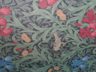 Detail of the wallpaper in the 1st floor drawing rooms. Photo credit: M.W. Ferris Photography