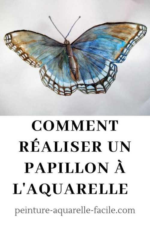 papillon à l'aquarelle pour Pinterest