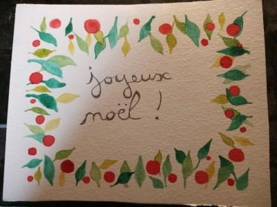 Cadre couronne de noël pour carte de vœux