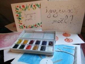 6 cartes de vœux à l'aquarelle faciles à réaliser