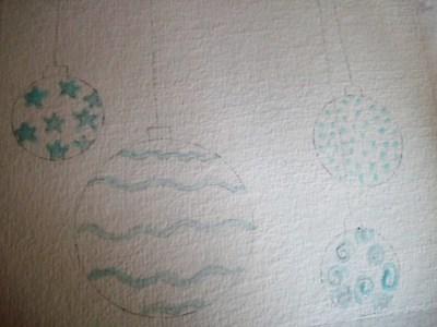 Drawing gum pour les motifs des boules de noel