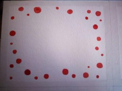 ronds rouges à l'aquarelle