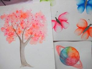 3 aquarelles colorées faciles et rapides à réaliser