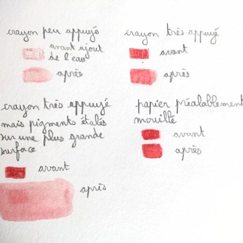 Gérer le clair/foncé aux crayons aquarelles