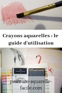 Crayons aquarelles pour Pinterest