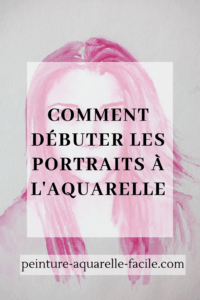 Portrait monochrome à l'aquarelle pour Pinterest