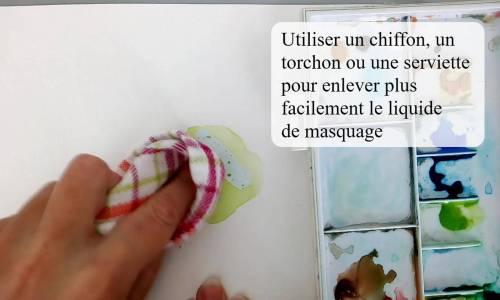 un chiffon, torchon ou serviette pour retirer le liquide de masquage