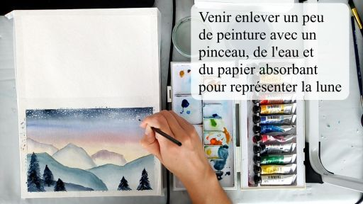 Finitions du paysage à l'aquarelle